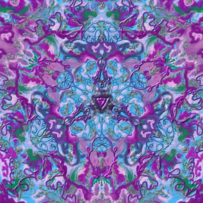 Purple Green Blue Kaleidoscope 15In 150-1