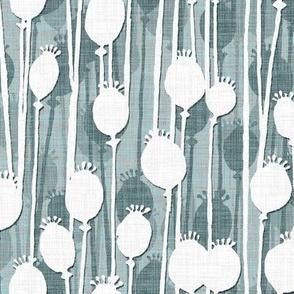 Poppy Heads slate frost