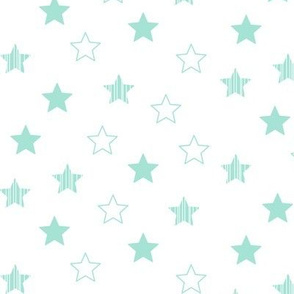Stars Scattered - Mint on White
