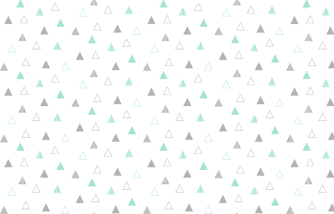 Cheeky Triangles - Mint & Gray on White fabric by cavutoodesigns on Spoonflower - custom fabric