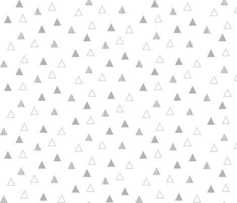 Cheeky Triangles - Gray on White fabric by cavutoodesigns on Spoonflower - custom fabric