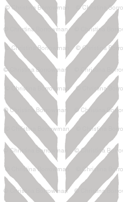 Gray Herringbones