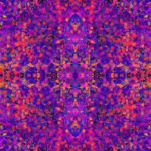 LITTLE CUBES LITTLE SQUARES GEOMETRIC EXPLOSION Flamboyant Purple
