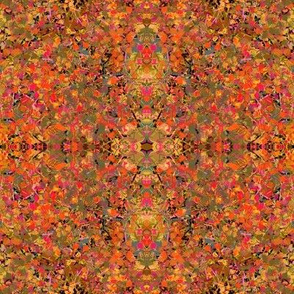 LITTLE CUBES LITTLE SQUARES GEOMETRIC EXPLOSION orange garden