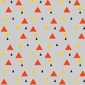 Desert mountains in gray