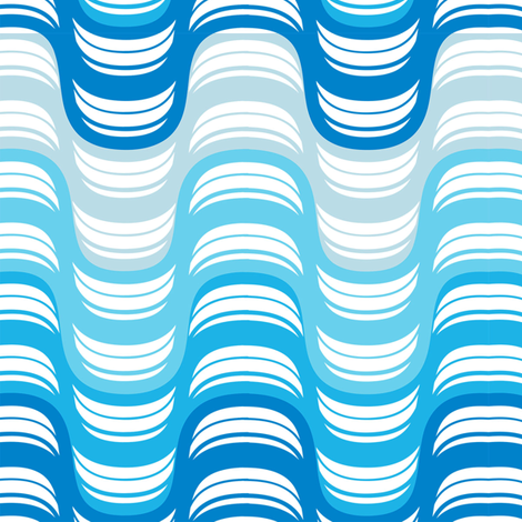 wave me off fabric by accidentalvix on Spoonflower - custom fabric