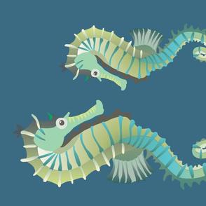 Seahorse pair - Kona fat quarter