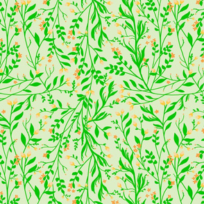 Tangled, Green on Pale green