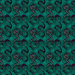 NIB Snakes and Dragons (Smokey Background 2) Smalllscale