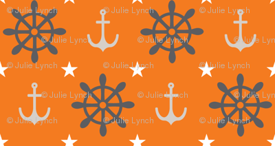 wheels and anchors orange