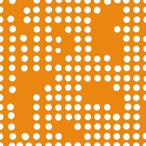 birds orange dots