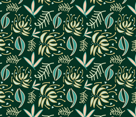 Down Under Rainforest  fabric by natalierobin on Spoonflower - custom fabric