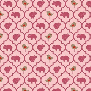 Hippo Birdie Diamond rosy