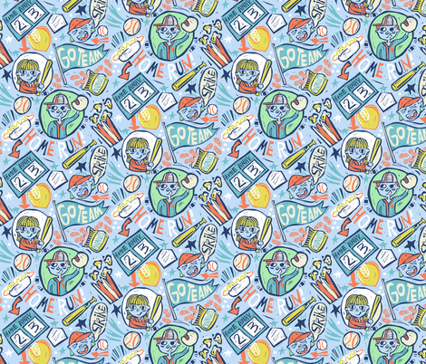 Go Team Go fabric by gsonge on Spoonflower - custom fabric