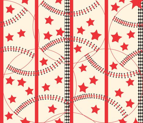 baseball fabric by orangefancy on Spoonflower - custom fabric