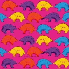 Zuni Bear Bright print