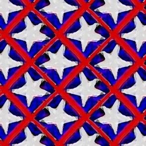 Stars and Stripes - Med White Stars