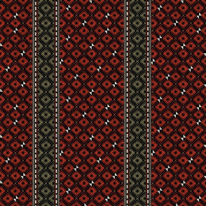 African blockprints Christmas Strpe