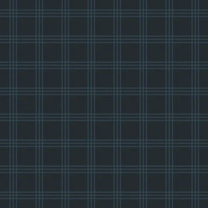 "1"" charcoal-navy checker tartan"