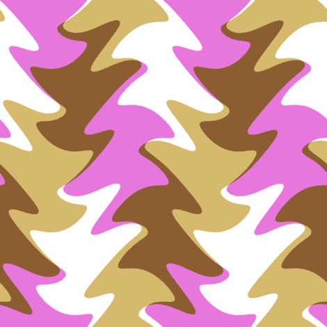 leaf swirl in fuchsia, chocolate, and caramel fabric by weavingmajor on Spoonflower - custom fabric