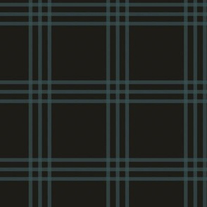 "3"" charcoal-brown checker tartan"