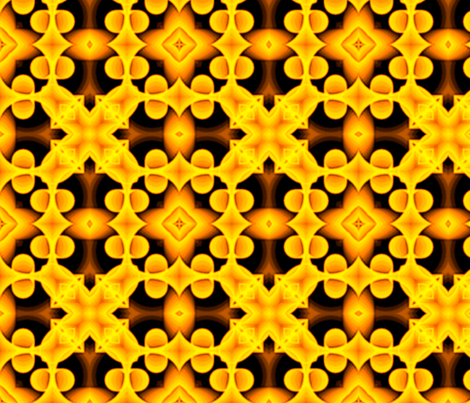 voxel_circles_001v4_yellow-orange fabric by stradling_designs on Spoonflower - custom fabric