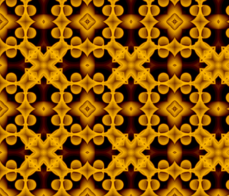 voxel_circles_001v4_orange fabric by stradling_designs on Spoonflower - custom fabric