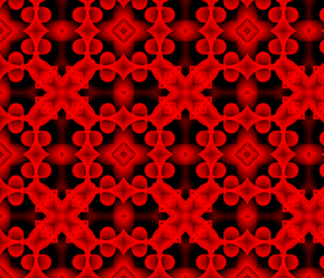 voxel_circles_001v4_red fabric by stradling_designs on Spoonflower - custom fabric