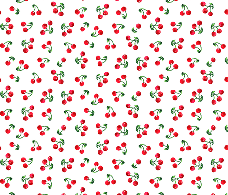 Cherry Picnic fabric by ileneavery on Spoonflower - custom fabric