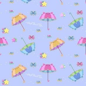 Pastel Starry Parasol Kittens