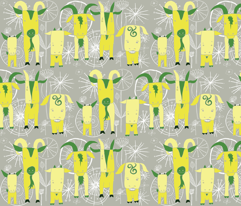Totes ma Goats  fabric by onelittleprintshop on Spoonflower - custom fabric