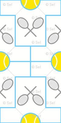 04421283 : tshirt 2x tennis ball racquet