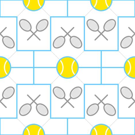 04421283 : tshirt 2x tennis ball racquet fabric by sef on Spoonflower - custom fabric