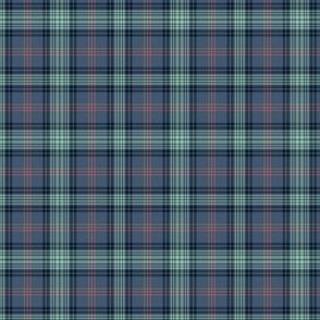 Ross Hunting tartan - blue variant - 1/4 scale