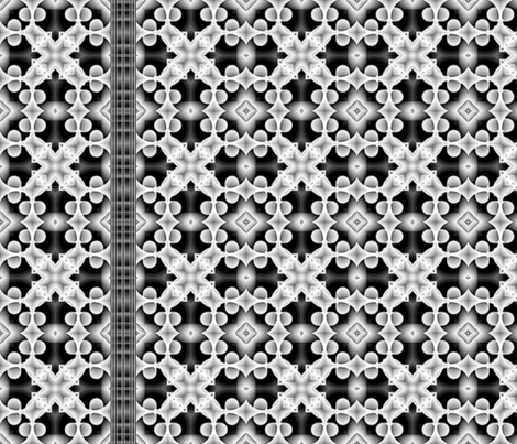 voxel_circles_001v4_white_border_print-black_ribbon fabric by stradling_designs on Spoonflower - custom fabric