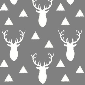 White_Deer_Triangles Gray Background