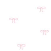 Light Pink Bows on White Background