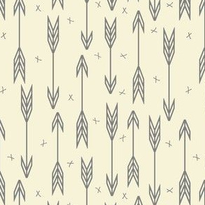Gray Arrows on Cream Background