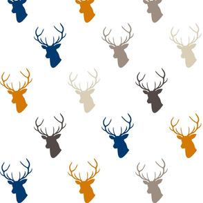 Navy Orange Deer