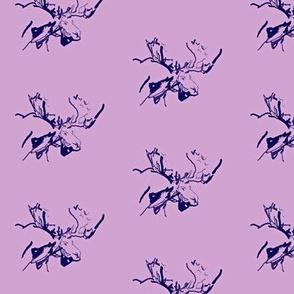 Walking Purple Moose