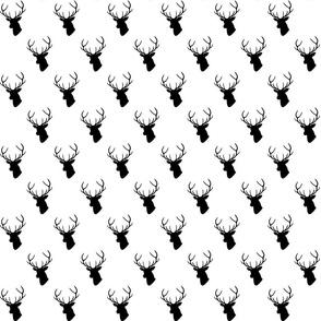 Black & White Deer half scale