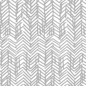 sketchy herringbone white
