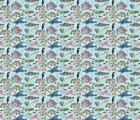 fin_and_tentacle fabric by unseen_gallery_fabrics on Spoonflower - custom fabric