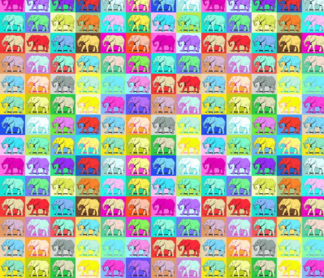 Colourful Elephants fabric by ornaart on Spoonflower - custom fabric