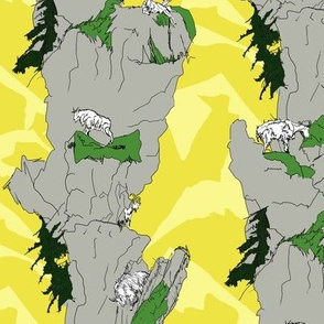 Mountain Goat Vertical stripe