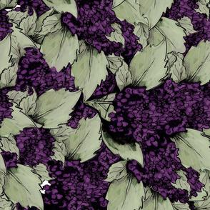 Hydrangea Bush backdrop - Purple