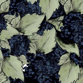 Hydrangea Bush backdrop Blue