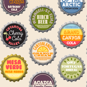 Soda Nation (2-liter Cream Soda) || bottlecap bottle cap national park America United States nps polka dots typography cola travel summer food drink vacation