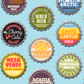 Soda Nation (2-liter Blue Raspberry) || bottlecap bottle cap national park America United States nps polka dots typography cola travel summer food drink vacation
