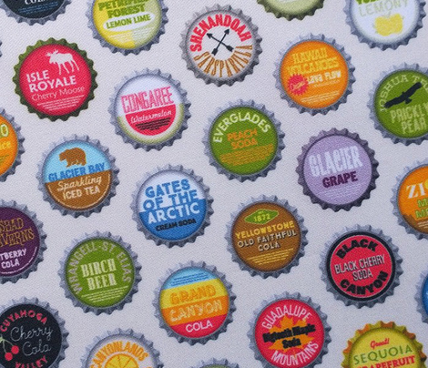 Soda Nation (Cream Soda) || bottlecap bottle cap national park America United States nps polka dots typography cola travel summer food drink vacation
